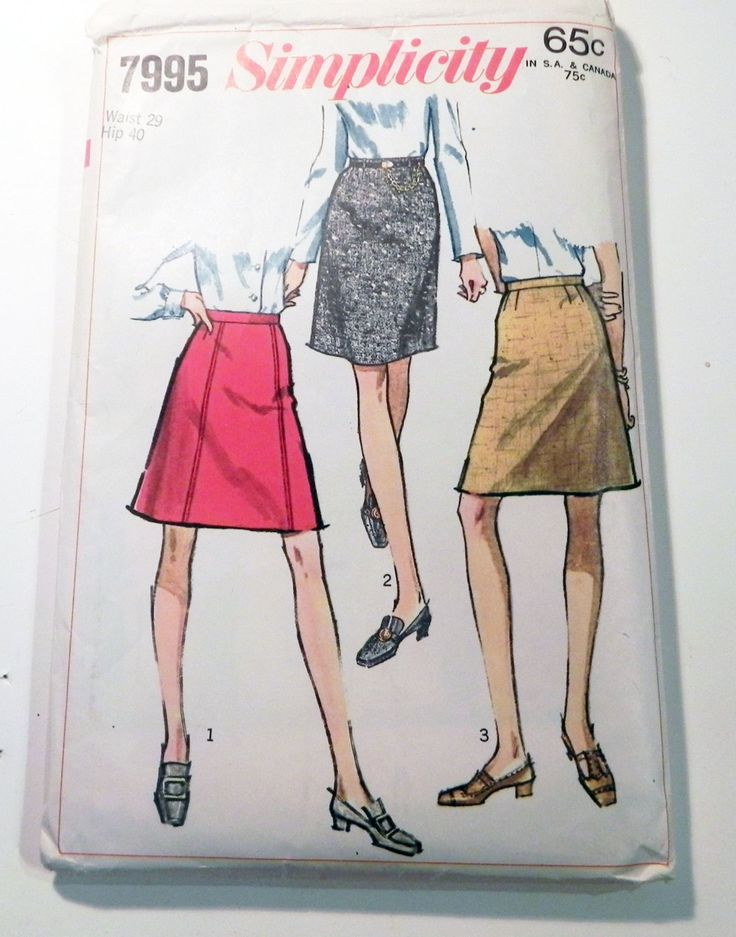 1960s a line flared skirt 4 knee length sewing