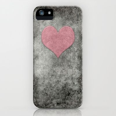 Valentines Grunge Love in Opal Pink iPhone & iPod Case by Bruce Stanfield - $35.00