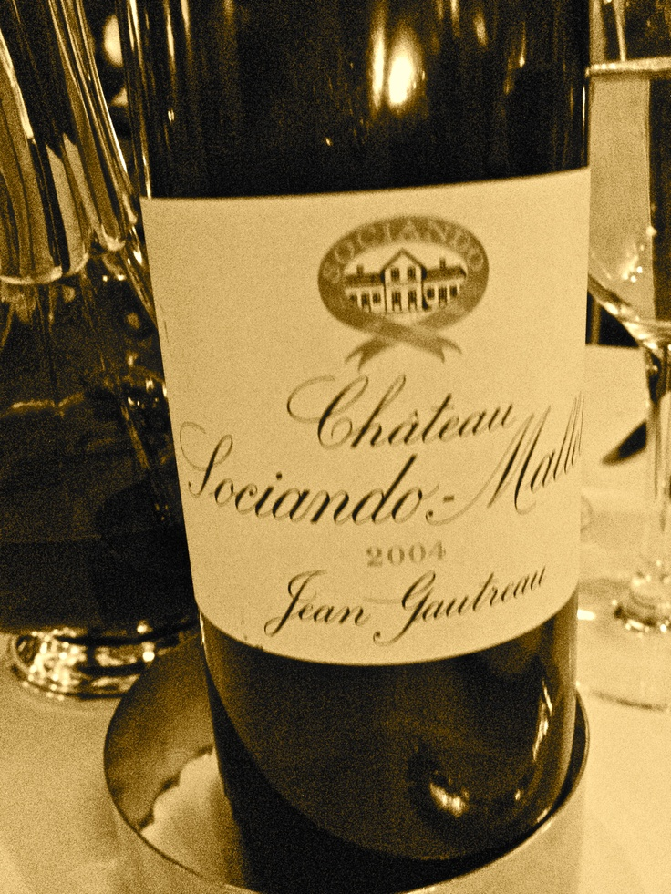 Chateau Sociando-Mallet 2004 (worked with sea bass and veal!)