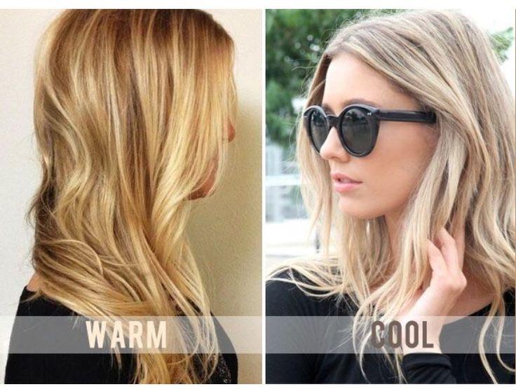 Warm vs cool blonde