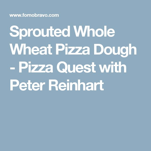 Sprouted Whole Wheat Pizza Dough - Pizza Quest with Peter Reinhart