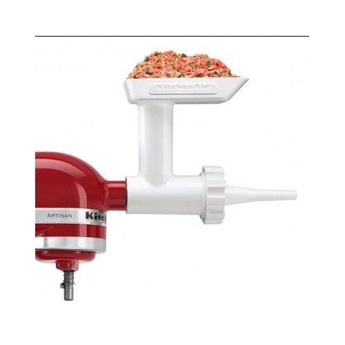 Super popular sausage stuffer attachment for any KitchenAid Stand Mixer.  http://www.ebay.com/itm/KitchenAid-Sausage-Stuffer-Attachment-For-Food-Grinder-Stand-Mixer-Kielbasa-New-/221736247545?