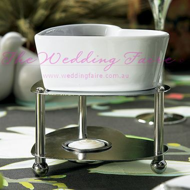 Heart Shaped Fondue Set - The Wedding Faire