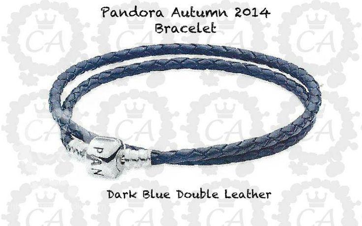 Pandora Autumn 2014 Bracelet Dark Blue Double Leather