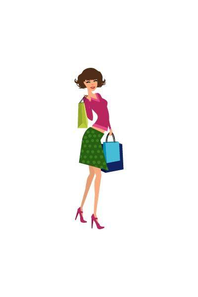 Shopping girl short hair vector #shopping  #fashionshopping #girlvector #vectorshopping #vectorshoppinggirl  http://www.vectorvice.com/shopping-girls-vector