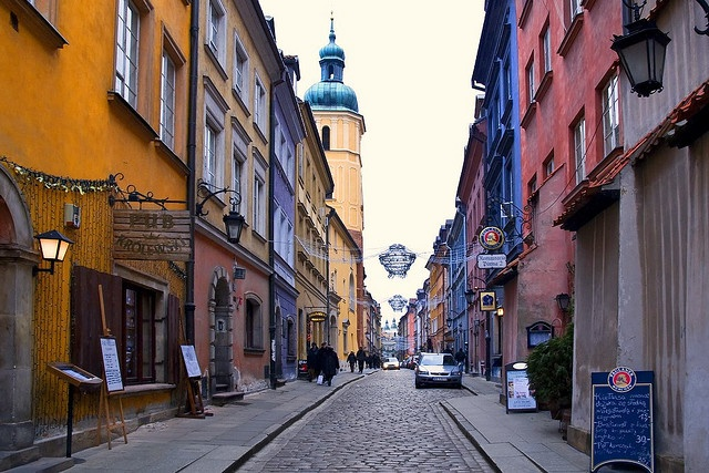 Warsaw Old Town was almost completely rebuilt after II World War