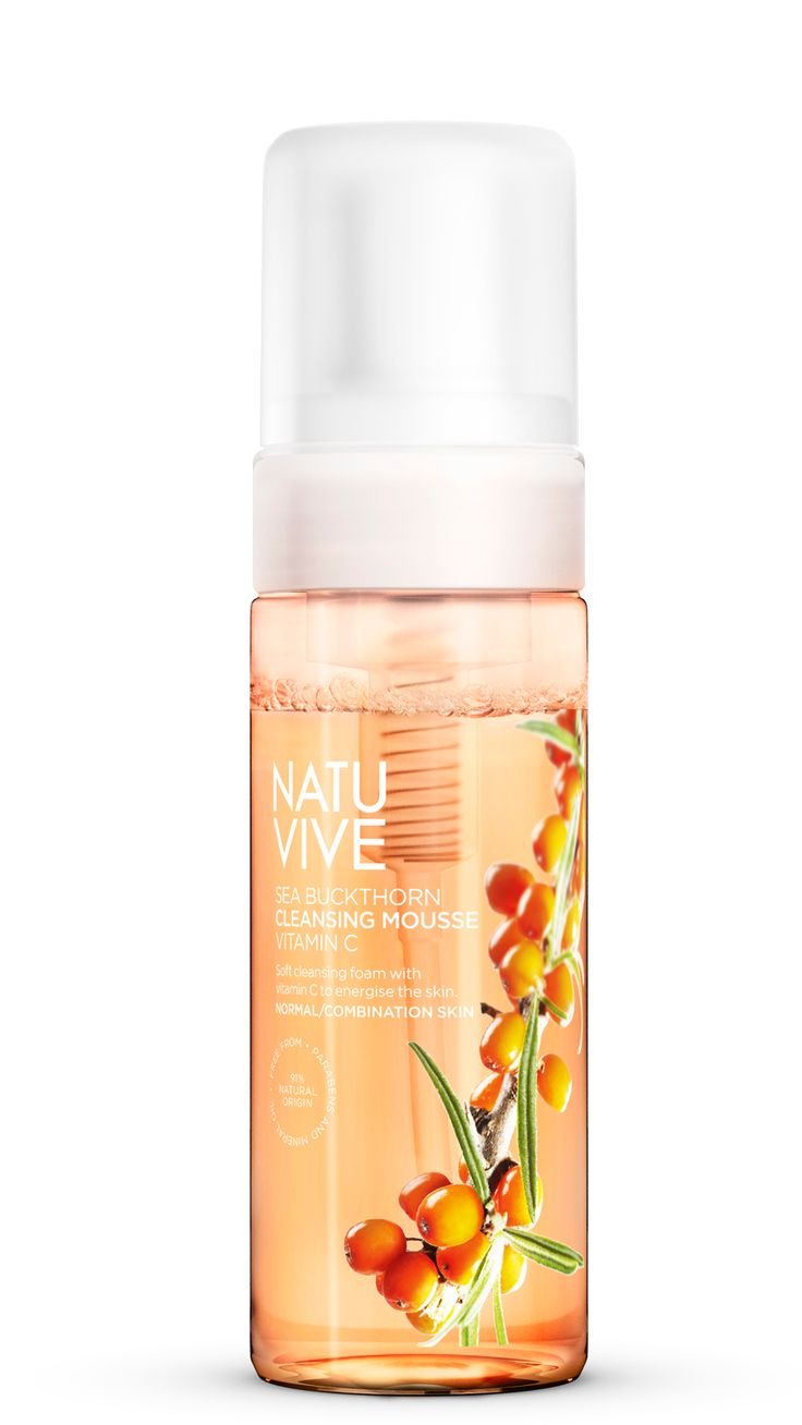 NATUVIVE Sea Buckthorn Cleansing Mousse Vitamin C