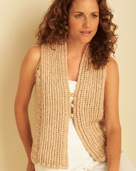 Thought the front of this cool vest was vertically crocheted, but those are front and back post double crochets. Free pattern.