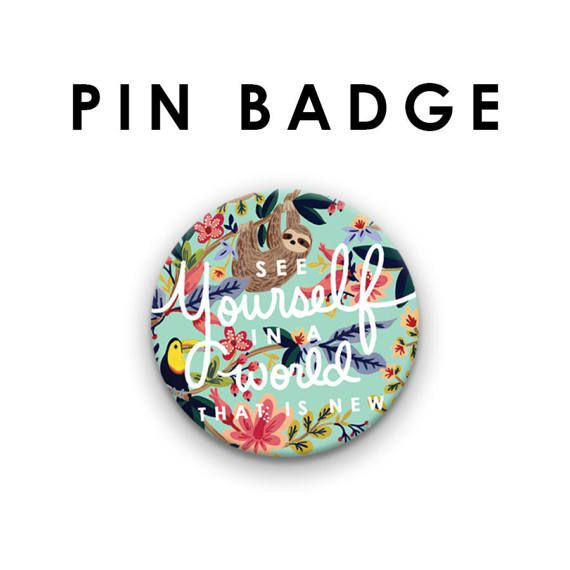38 mm/1.5 inch See Yourself in a World That is New Pin Badges, Jehovah's Witnesses, JW Gift, Pioneer School Gift, Baptism Gift, JW Pin