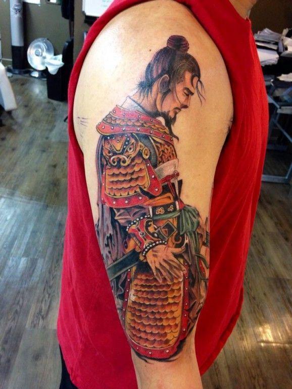 Samurai no braço.