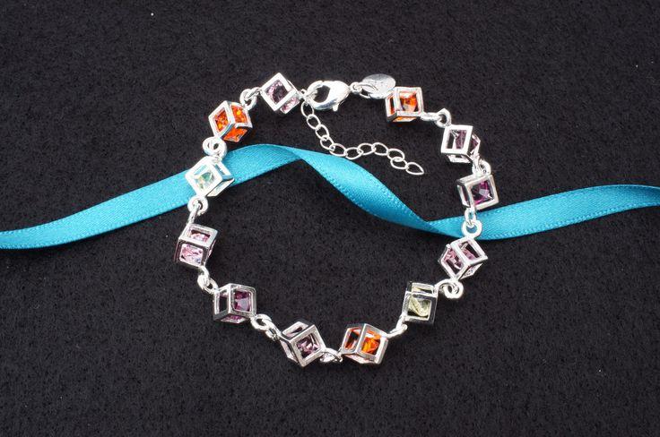 Crystal cube bracelet £7.99