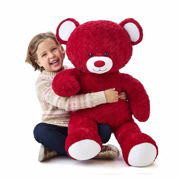 Red Hot Red Hearts Jumbo Teddy Bear | Build-A-Bear