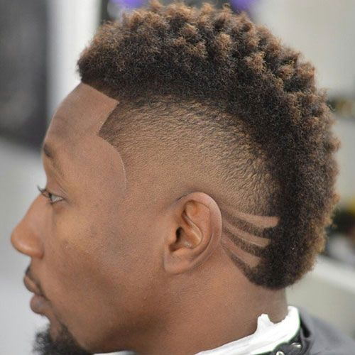 Black Men Mohawk Hairstyles - Curly Twists with Hair Design