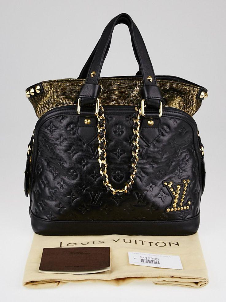 Louis Vuitton Limited Edition Black Monogram Double Jeu Neo-Alma Bag