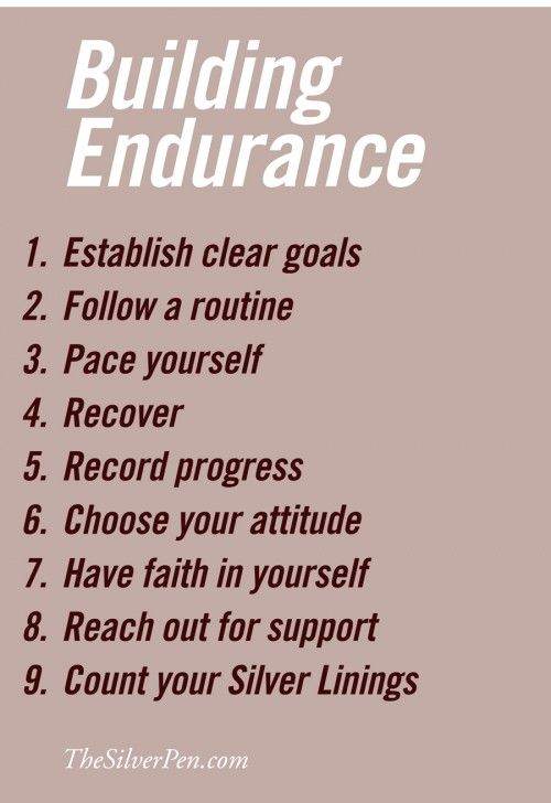 Endurance is more mental than physical, and once your ready mentally, you can accomplish anything!