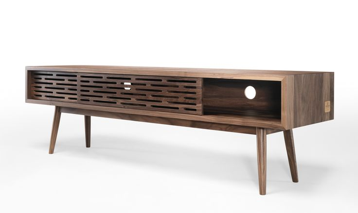 Wewood Radio sideboard, in solid walnut, is the perfect idea for your living room decor! #radio #sideboard #ideas #livingroom #storage