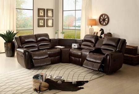 sectional sofa recliners with corner table - Google Search