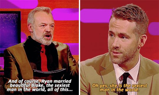 """When Ryan Reynolds discussed his marriage to Blake Lively. 