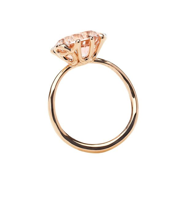 "Dior Joaillerie's Oui solitaire ring in rose gold. most perfect pretty ""traditionalist"" engagement ring ever <3 <3 <3"