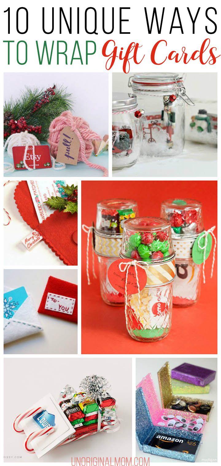 6abc5fe9d7c61566c256bc0c3f21c50c gift card wrapping wrapping ideas