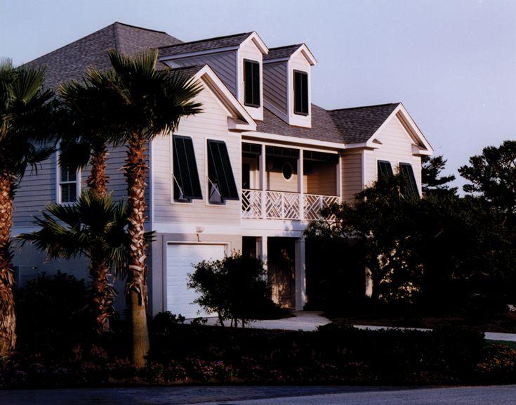 dresden raised beach home - Beach Style Home Plans