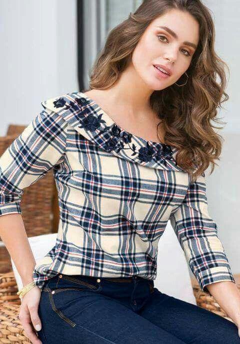 b248a4dcdefa Blusas | moda | Blusas, Blusas mujer y Blusa modernas