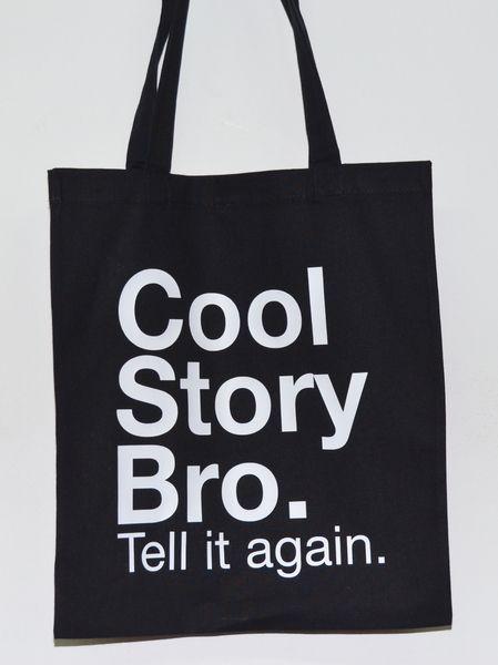 COOL STORY BRO. * Jutebeutel  *DIE JUTEN* von DIE JUTEN auf DaWanda.com