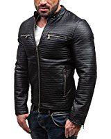 BOLF Ökolederjacke Herrenjacke Sweatjacke Zipper Sweatshirt FEIFA FASHION 9123