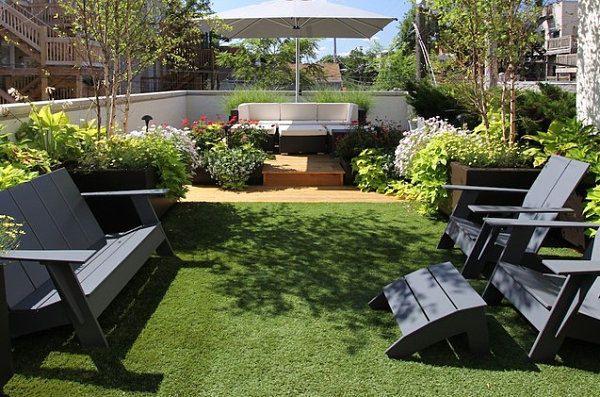 nice Garden with Outdoor Furnishings design
