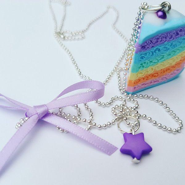 Charm- & Bettelketten - Zuckersüße Regenbogentorte - ein Designerstück von FlamingoBox bei DaWanda