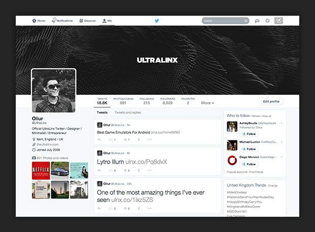 Get The New Twitter Layout Design Now