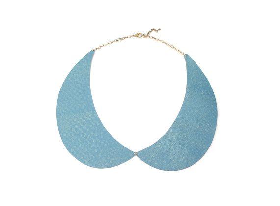 Peter Pan collar necklace Peter Pan necklace blue by elfinadesign