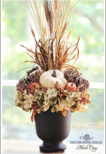 Floral Arrangements Autumn And Wheat Grass On Pinterest