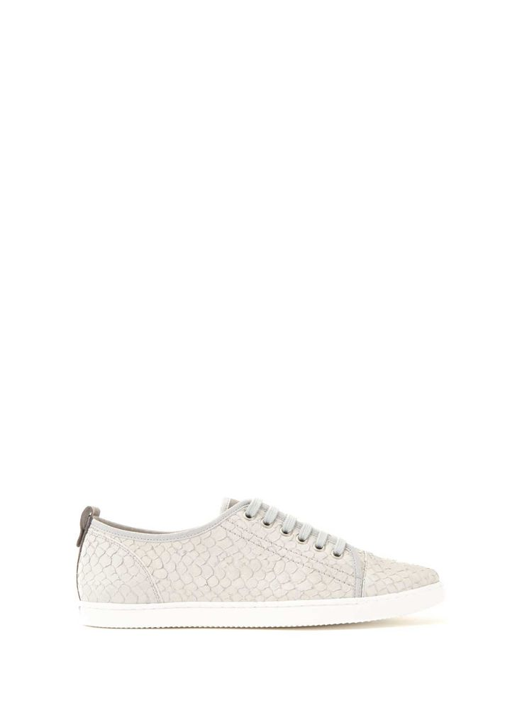 Textured Grey Emily Lace Up Trainer