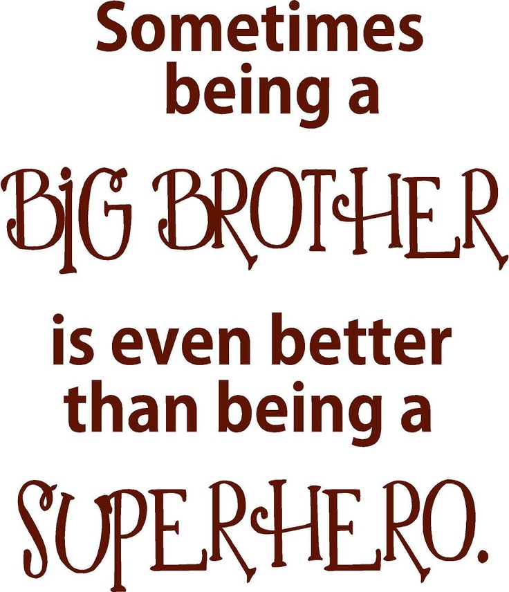 Quotes In Brother: 17 Best Big Brother Quotes On Pinterest
