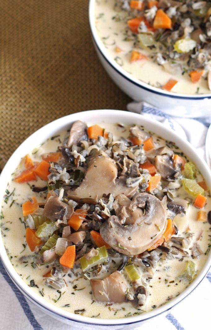 rice cream of wild rice soup cream of mushrooms mushroom wild rice ...