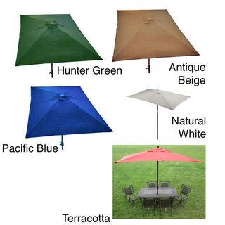 @Overstock.com - Premium 10 Rectangular Patio Umbrella - Durable construction and breathable fabric highlights this outdoor patio umbrella. This umbrella features a handy crank-lift system.  http://www.overstock.com/Home-Garden/Premium-10-Rectangular-Patio-Umbrella/5071235/product.html?CID=214117 $125.99