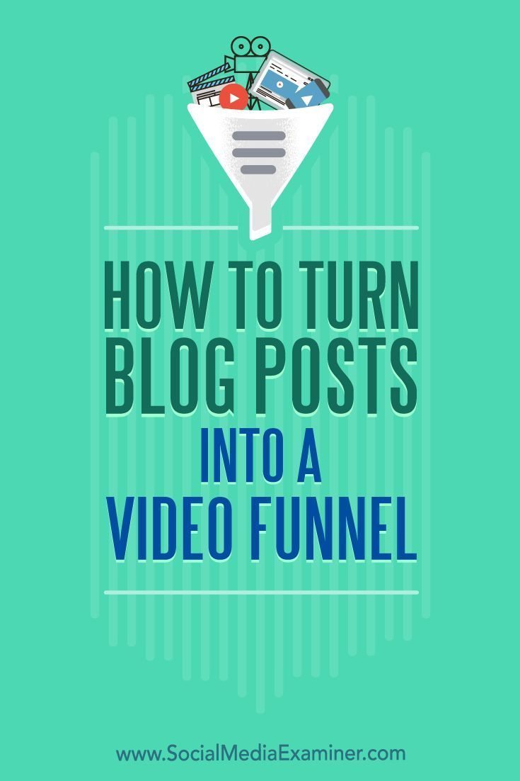Do you want more business from your blog posts?  Looking for tips to qualify leads more effectively?  In this article, you��ll discover how to warm up and convert prospects by turning blog posts into a three-part video funnel. #blogging #socialmedia #socia