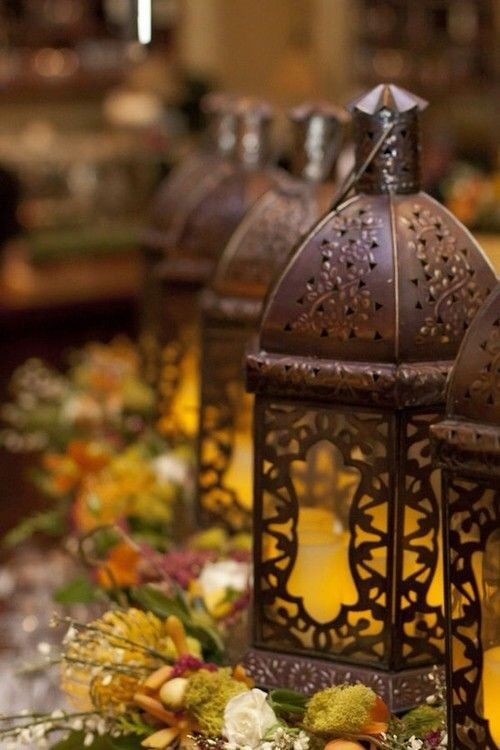 asian candle lantern floral