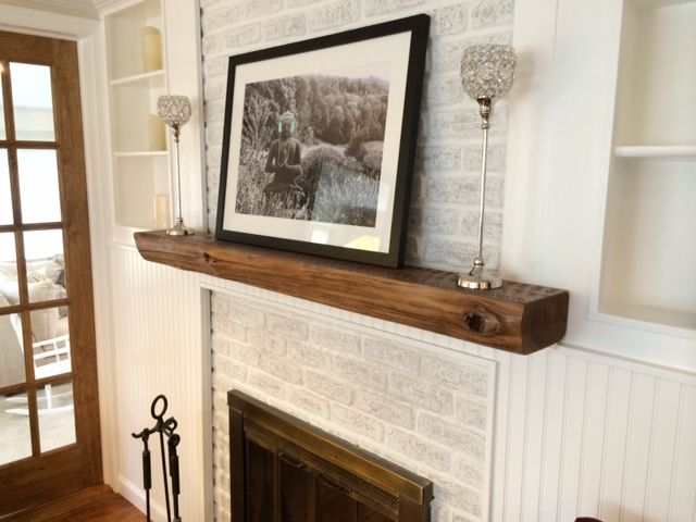 Obsessed with this DIY to turn a red brick fireplace to a white wash one. So simple and so perfect! Get more info at suitepieces.com