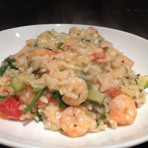 Tea tonight baked prawn risotto - delish!! #lowfodmap  #dairyfree #glutenfree #Padgram