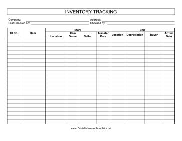 Buyers And Sellers Can Use This Inventory Tracking Log To
