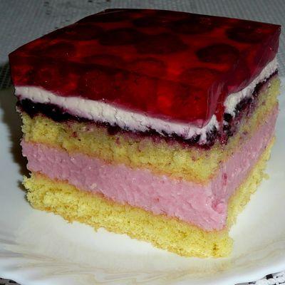 Ciasto porzeczkowe z malinami - DoradcaSmaku.pl