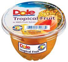 Rico pote en formato grande, con fruta al jugo traído directamente desde el trópico. Disfruta este delicioso postre de fruta tropical con 100% jugo de fruta.