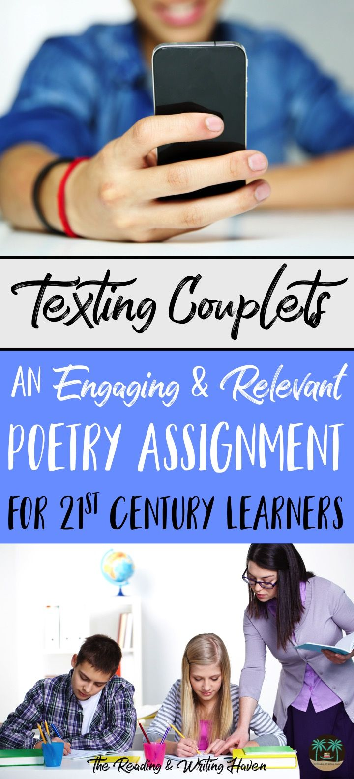 Creative poetry writing assignment that is an excellent complement to existing middle and high school units