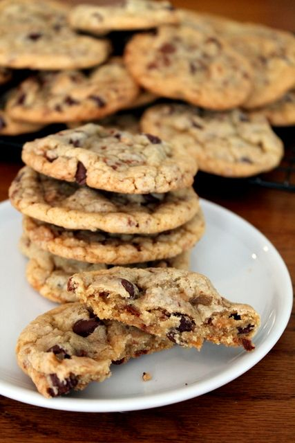 Chewy Chocolate Chip Heath Bar Cookies Recipe                                                                                                                                                                                 More