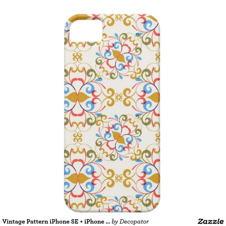 Vintage Pattern iPhone SE + iPhone 5/5S iPhone 5 Covers