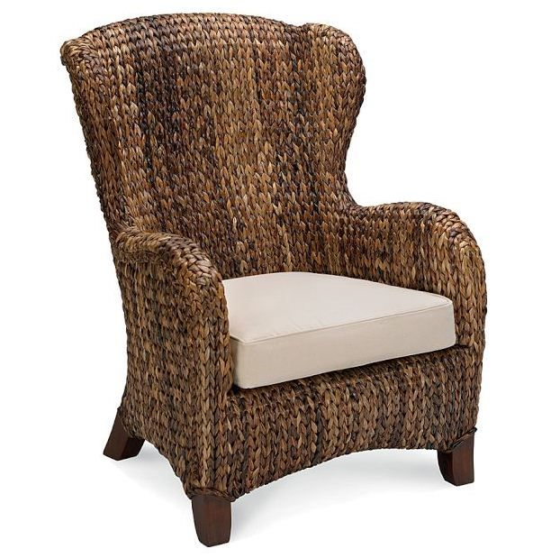 Seagrass Wing Back Chair Someday Living At The Beach Pinterest