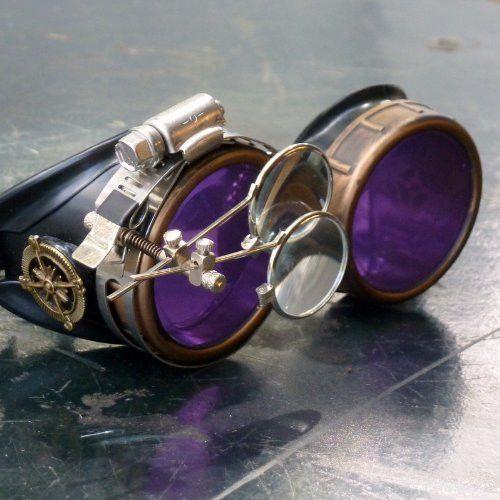 Steampunk Victorian Goggles welding Glasses diesel punk Time Traveler Costume Prop