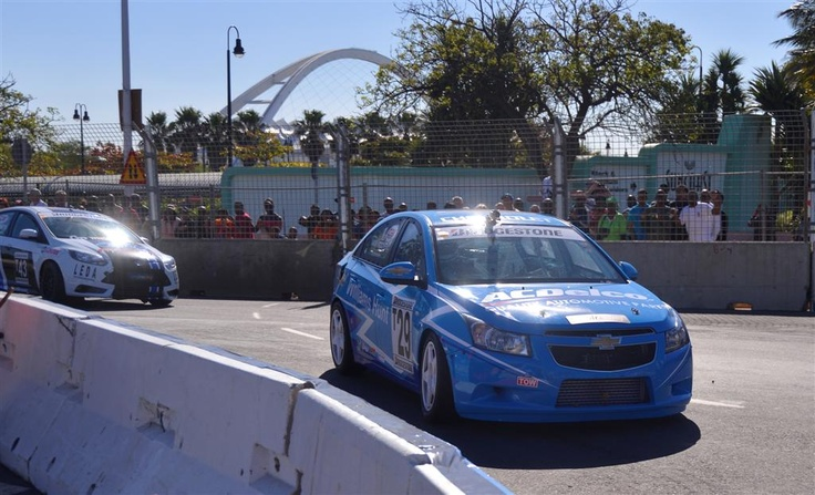 More action from the Williams Hunt Chevrolet Cruze at the Topgear Festival in Durban
